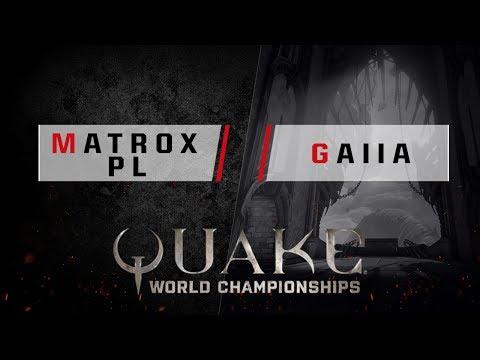Quake - Matroxpl vs. Gaiia [1v1] - Quake World Championships - EU Qualifier #3