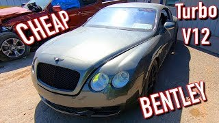 Download Copart Walk Around 10-8-19 Bentley GT Twin Turbo V12 Mp3 and Videos
