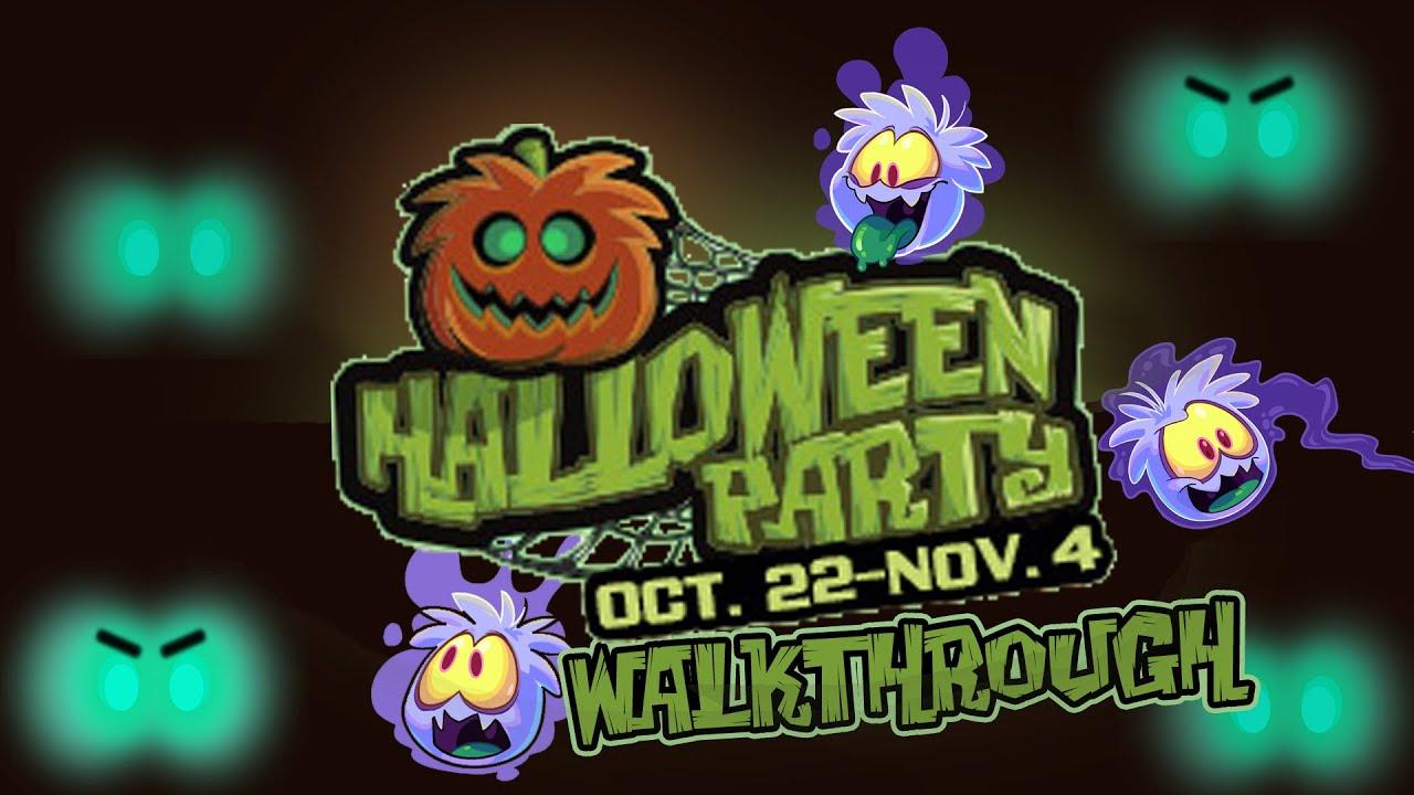 club penguin halloween party 2015 walkthrough youtube - Halloween Party Wallpaper