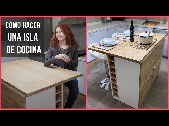 Cómo hacer una ISLA DE COCINA de madera MODERNA Y PRÁCTICA    Bricoydeco