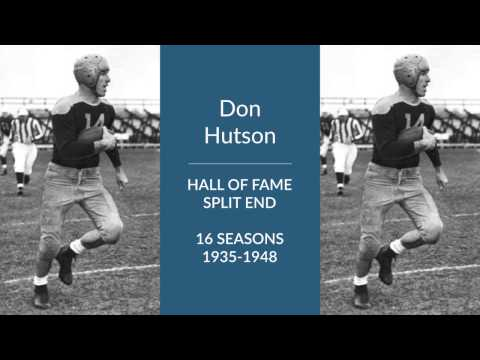 Don Hutson Hall of Fame Football Split End, Safety, and Kicker