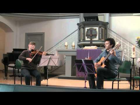 Steffen Gumpert und Juliane Lerch, NMKS Duisburg, Nicolo Paganini; Duo Nr.6 in a-moll