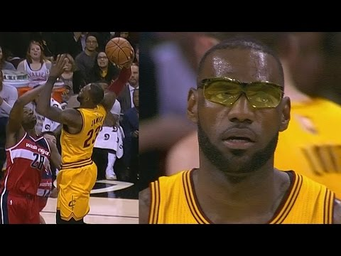 LeBron James Wears Glasses! Wizards Score 71 Points 1st Half!