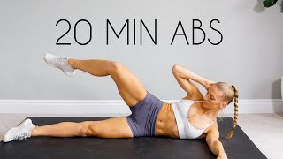 20 MIN TOTAL CORE/AB WORKOUT (At Home No Equipment)