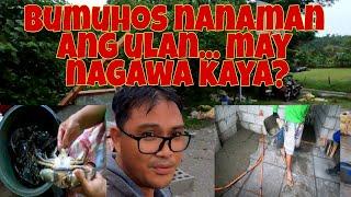 Nakabili din ng matabang alimango   Flooring nh isang room at buhos nanaman ang ulan...