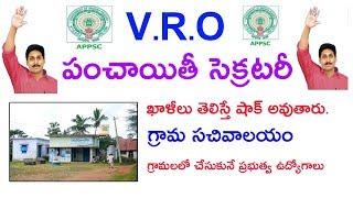 Andhra pradesh VRO and panchayat secretary jobs Update in telugu 2019