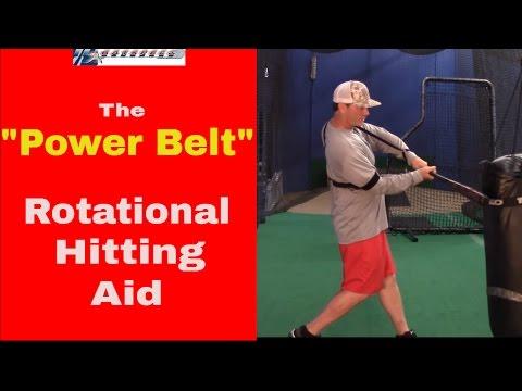 "Rotational Hitting Aid | ""Power Belt"" Swing Trainer for Baseball & Softball"