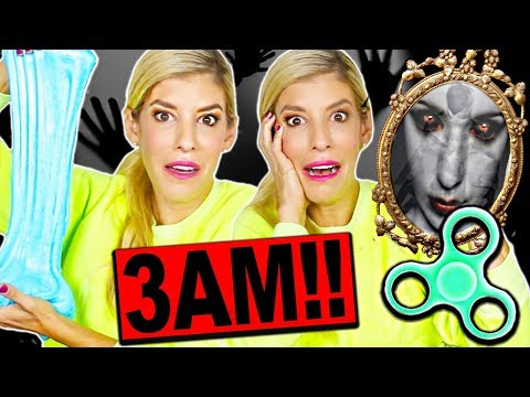 trying-viral-trends-at-3am!!-(fluffy-slime,-fidget-spinners,-try-not-to-flinch-challenge)