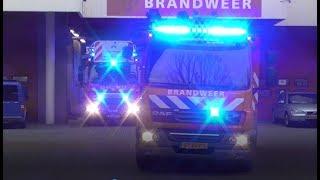 [Nieuwe] Brandweer Mijnsherenlaan TS3431 + AL3451 met spoed naar een gebouwbrand in Rotterdam.