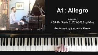 A:1 Allegro (ABRSM Grade 2 piano 2021-2022)