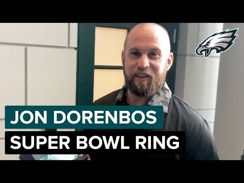 Jon Dorenbos Receives His Super Bowl Championship Ring 💍  | Philadelphia Eagles