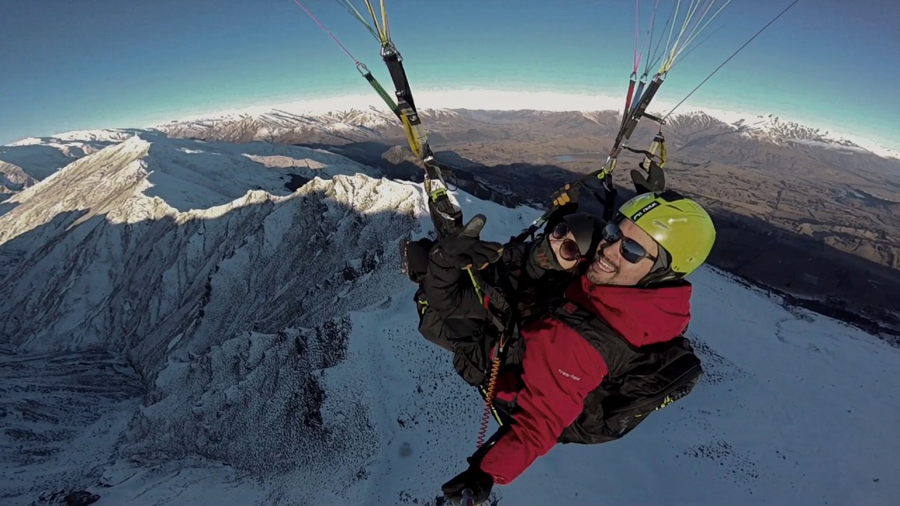 Tandem Paragliding in Queenstown from Coronet Peak