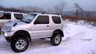 jimny, 4x4, snow