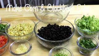 corn black bean salsa salad with rotisserie chicken