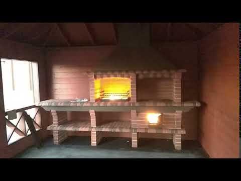 Установка модульной барбекю печи из кирпича