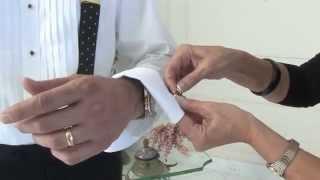Как одевать запонки (французский манжет)