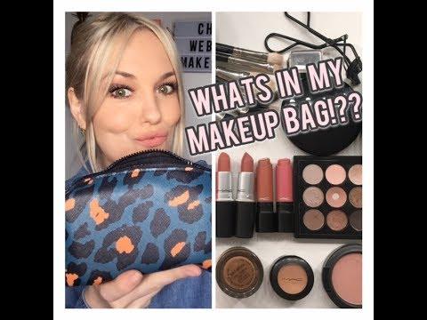 WHATS IN MY MAKEUP BAG??? VLOG & DAY MAKEUP TUTORIAL. MAC ...