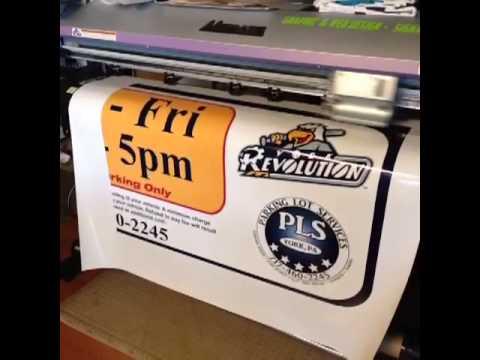 Sticker decal printing