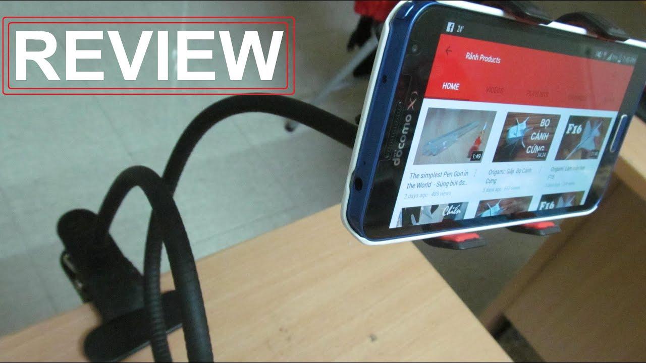 Review – Trên tay kẹp điện thoại dùng cho xem phim, đọc truyện