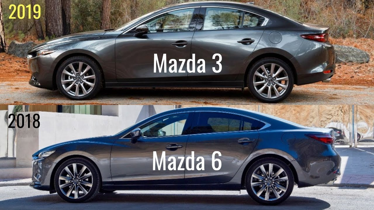 2019 mazda 3 vs mazda 6 youtube. Black Bedroom Furniture Sets. Home Design Ideas