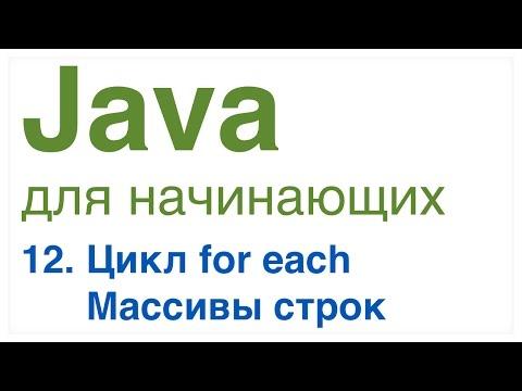 Java для начинающих. Урок 12: Цикл for each, Массивы строк.
