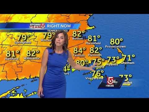 Video: Oppressive heat, but crisp air on way