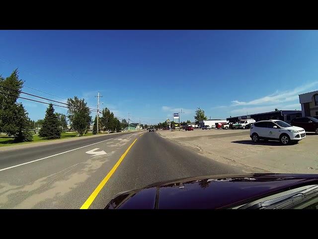 Driving in Happy Valley-Goose Bay, Labrador, NL