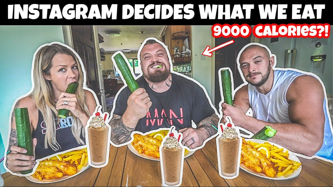 Instagram Decides What I Eat For A Day | 9000 CALORIES?!