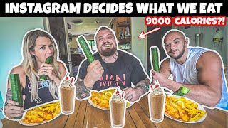 Instagram Decides My Boxing Diet | 9000 CALORIES?!
