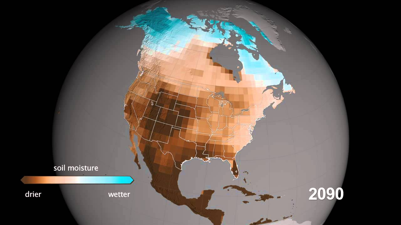 North American Drought Projections YouTube - Nasa us drought maps