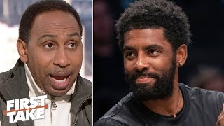 Stephen A. reacts to Kyrie Irving's lengthy social media response to Celtics fans | First Take