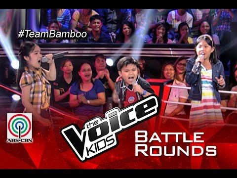 "The Voice Kids PH 2015 Battle Performance: ""Di Bale Na Lang"" by Narcylyn vs Crissel vs Lance"