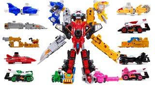 PowerRangers Lupinranger VS Patranger Good Cool Kaiser VSX Assembly All Kaiser Emperor Car Robot Toy