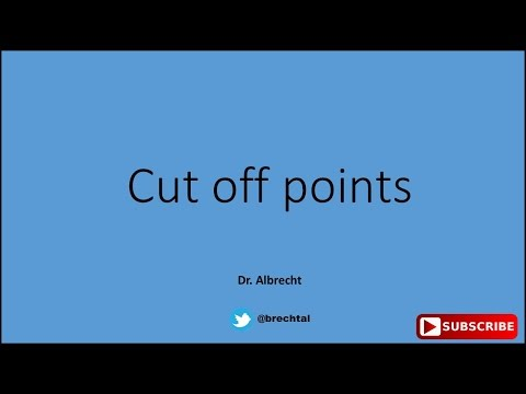 Cut Off Point?