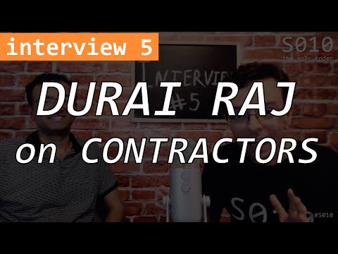 Contracting - The Solo Coder - interview #5 - Durai Raj - Java/J2EE Contractor