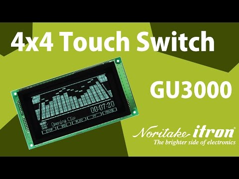 Noritake VFD: 4x4 Touch Switch Glass Module - Arduino Demo