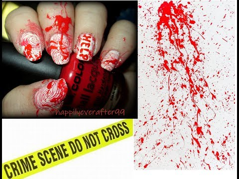 Crime Scene Nail Art Tutorial thumbnail