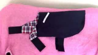 Little dog coat I have made from an old Tommy Hilfiger raincoat! I hope you all like it x