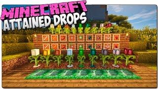 ATTAINED DROPS MOD | Planta drops de mobs enemigos | MINECRAFT 1.7.10 REVIEW ESPAÑOL