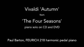 Vivaldi Autumn The Four Seasons PIANO SOLO P Barton FEURICH 218