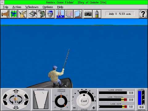 Gone Fishin Digital Freshwater Fishing By Amtex