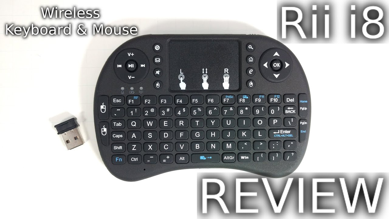 8dbe2b0f6be Rii i8 Keyboard and Mouse for TV Box REVIEW - YouTube