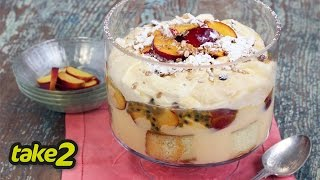 Easy Trifle Recipe with Nectarines  Woolworths