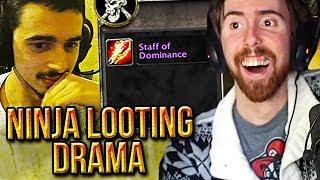 Asmongold Reacts To Jokerd Ninja Looting Staff Of Dominance From MC Raid - Classic WoW Drama