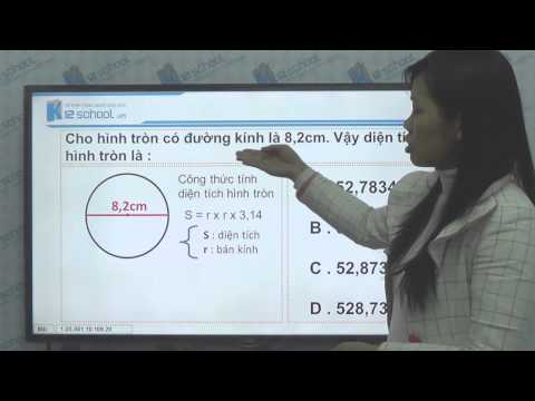 [Toán tiểu học][Toán 5, Toán lớp 5]-Cách tính diện tích hình tròn-- [Lika-K12school]