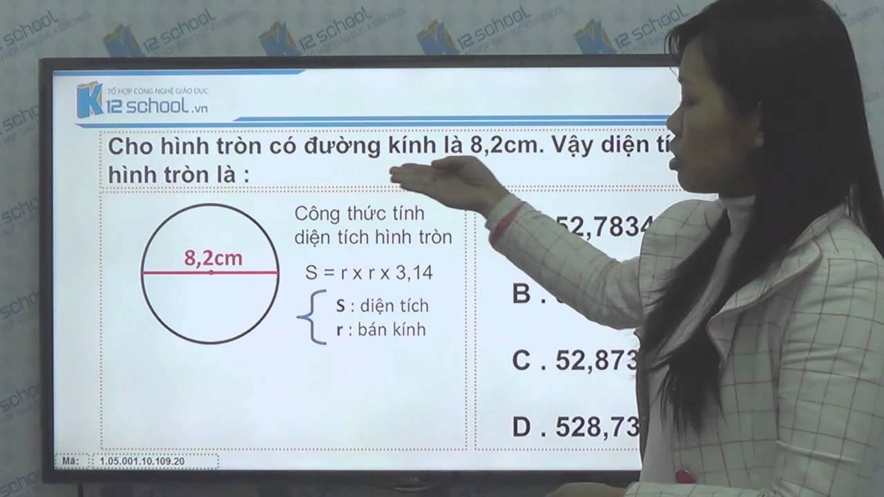 [Toán tiểu học][Toán 5, Toán lớp 5]-Cách tính diện tích hình tròn– [Lika-K12school]