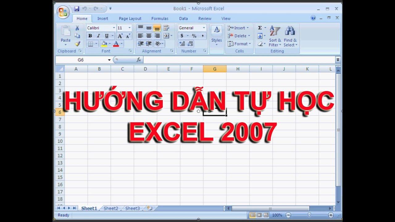 [Hướng Dẫn Học Excel 2007] Bài 2: Các thao tác trên excel 2007