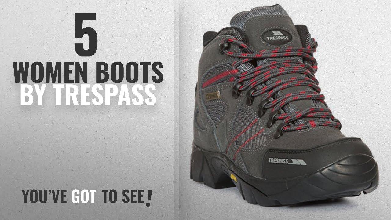 4d9f7db03cf Top 10 Trespass Women Boots [2018]: Ridgeway Womens Ladies Waterproof  walking Hiking Trail Shoes