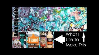 Acrylic Pouring. Mixing Ratios Explained. Dirty Pour Example. Finished Project