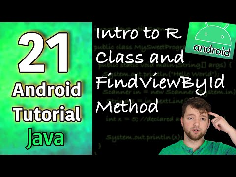 Android App Development Tutorial 21 - Intro to R Class and FindViewById Method | Java thumbnail